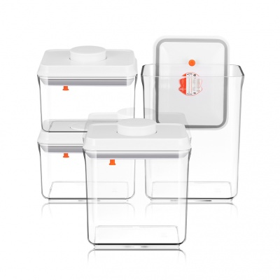 ANKOU 4 Sets Airtight Food Storage Container