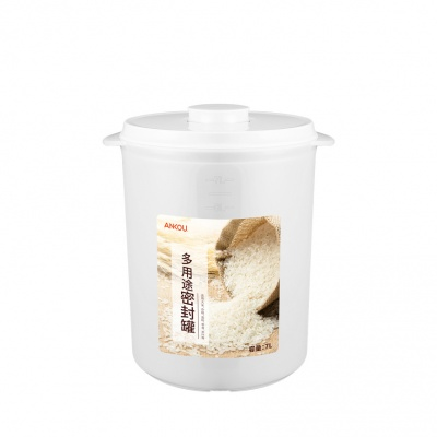 ANKOU Rice Storage Container 10KG Capacity ,Transparent With Insect-resistant And Moistureproof
