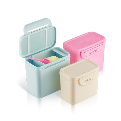 ANKOU Portable Milk Powder Storage Container  , Mini Milk Powder Baby Food Container